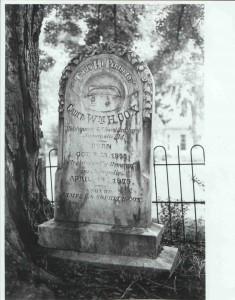 2000.002.0009 Cadet Wm. H. Cox tombstone OJC